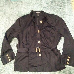 Lane Bryant black belted jacket size 24